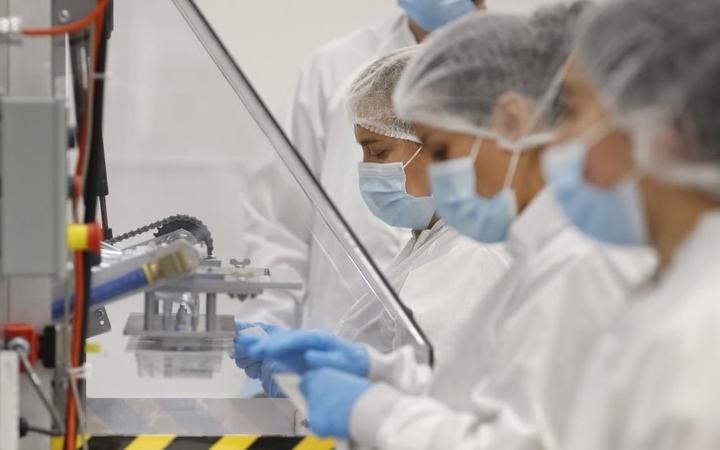 DRAPER, UT - SEPTEMBER 21: Employees at Spectrum Solutions assembles COVID-19 saliva test kits on September 21, 2020 in Draper, Utah.