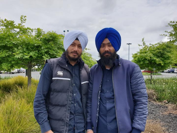 Jaswinder Singh and Harpreet Singh, two religious workers from India.