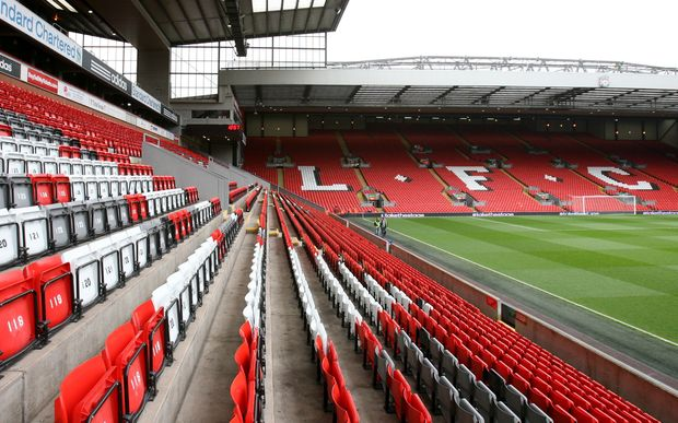 Anfield, home of Liverpool Football Club.