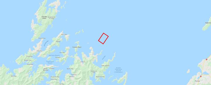 New Zealand King Salmon's application for a new salmon farm (pictured in red) divides the nation.