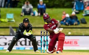 Rovman Powell of the West Indies.