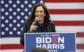 Kamala Harris pictured during the campaign.