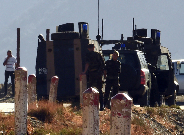 Algerian troops searched in the mountainous eastern Tizi Ouzou region in a desperate bid to find the kidnapped French tourist.