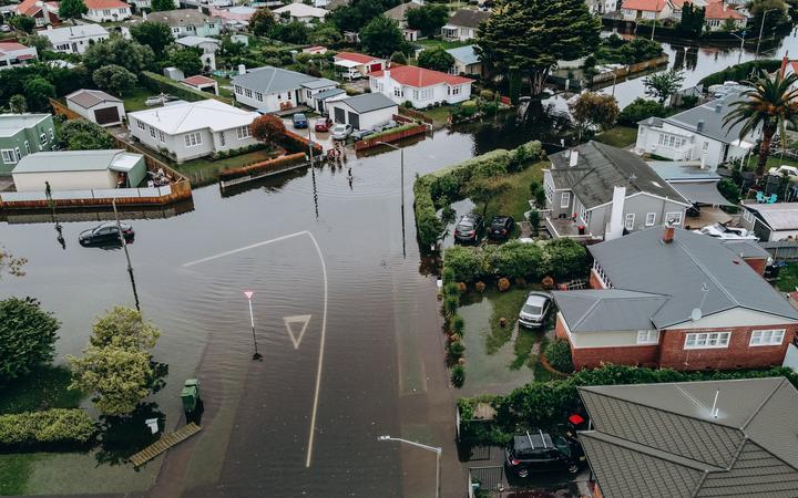 Napier flood - Marewa suburb