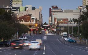 Traffic on North Terrace, Adelaide, Australia, 2014.