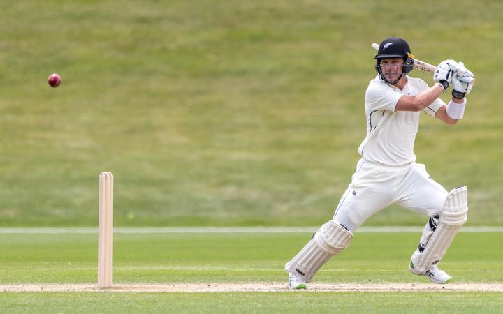 NZ A's Will Young batting on the final day of the tour match against the West Indies at John Davies Oval on Sunday 22nd November 2020