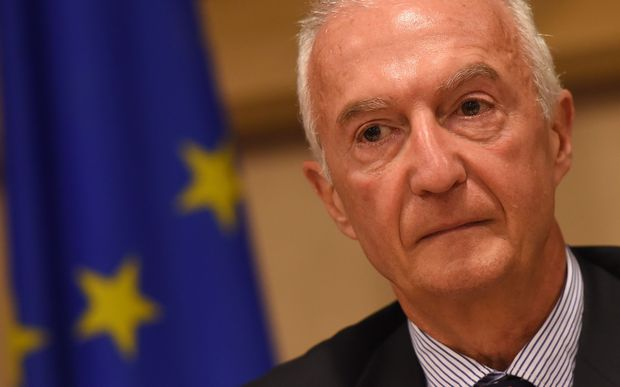 EU Counter-terrorism Coordinator Gilles de Kerchove addresses a commission on the fight against the threat of Islamic State militant groups, at the European Parliament in Brussels, on September 24, 2014.