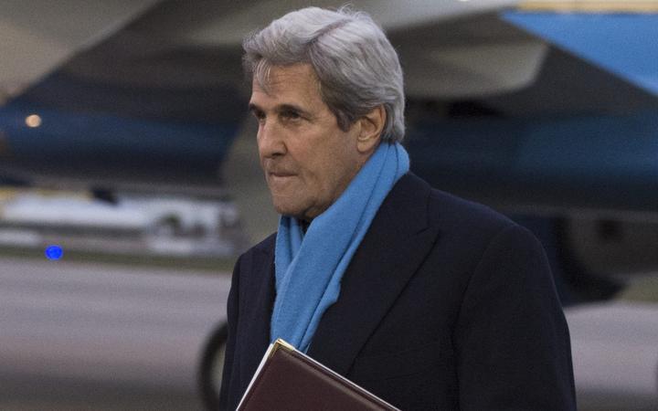 John Kerry at Jacksonville International Airport, Florida, in 2017