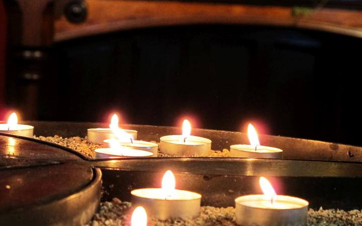 Votive candles at St Patrick's Cathedral