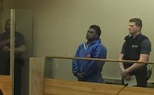 Fa'atiga Manutui - one of the two accused - appeared in the Manukau District Court this afternoon.