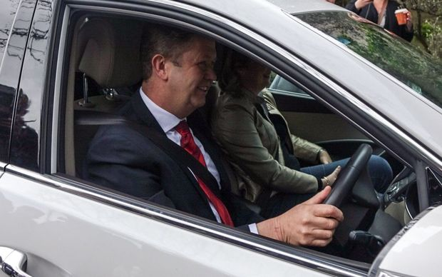 David Cunliffe arrives at the Labour Party council meeting.