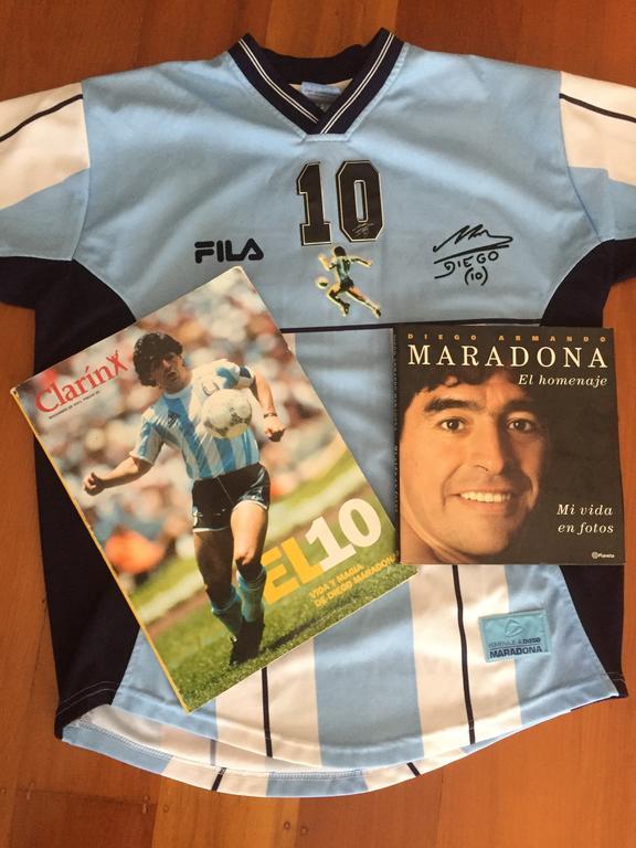 Maradona memorabilia.