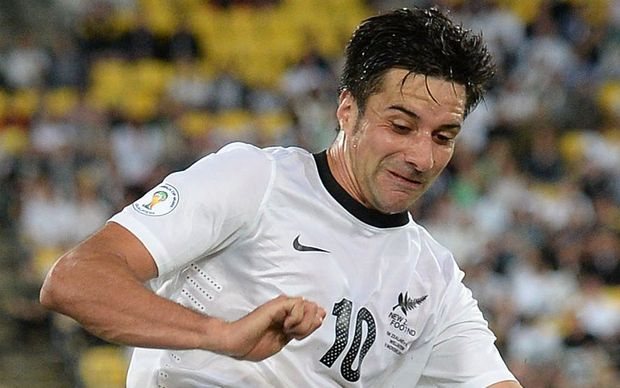 Rory Fallon in action for the All Whites