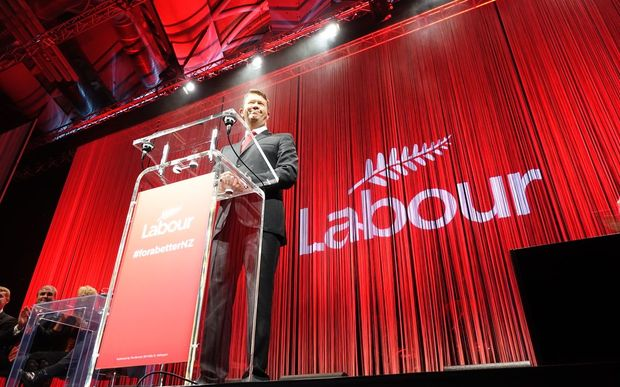 Labour leader David Cunliffe speaking to party supporters at its 2014 election campaign launch in Auckland.