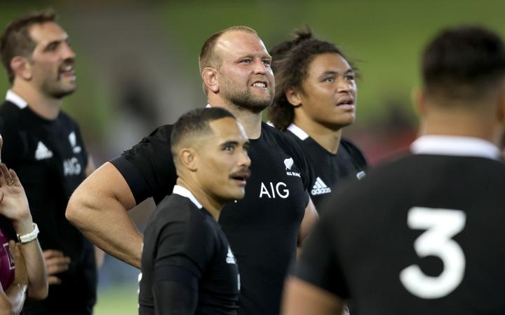 Joe Moody. New Zealand All Blacks v Argentina. 2020 Rugby Championship Test Match played at McDonald Jones Stadium, Newcastle Australia on Saturday 28th November 2020.