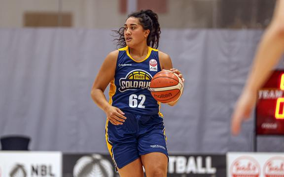 Otago Gold Rush's Teararoa Sopoaga during the 18IN18 Basketball