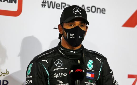 British F1 driver Lewis Hamilton.