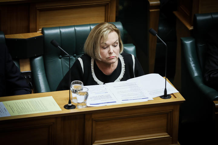 Leader of the Opposition Judith Collins considers her options for follow-up questions during the first Question Time of the 53rd Parliament