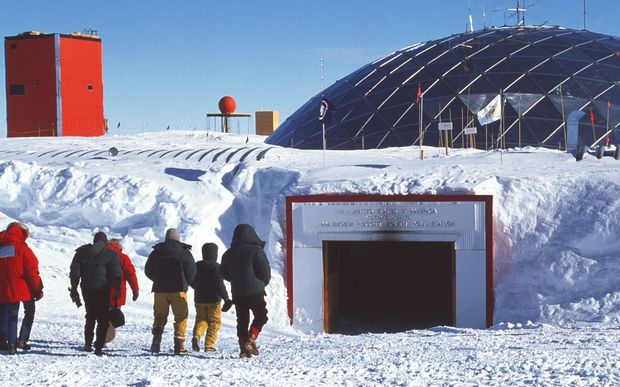 The Amundsen-Scott South Pole station research base.