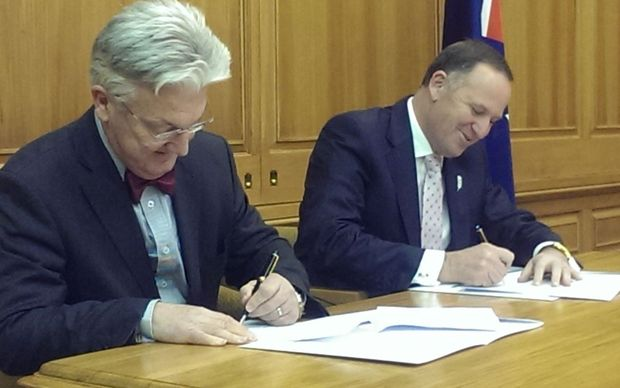 Peter Dunne and John Key.