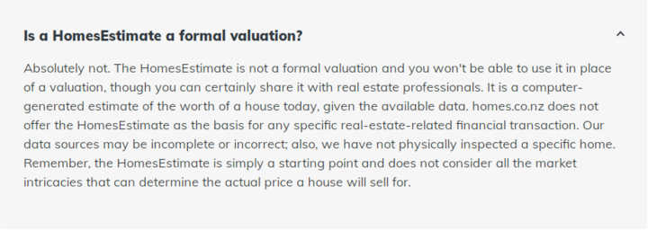 Home valuation on homes.co.nz - For Ruth Hill's story