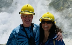 The last picture of American couple Rick and Ivy Reed prior to the Whakaari eruption.