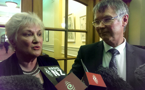 Labour Party acting leader David Parker and acting deputy Annette King.
