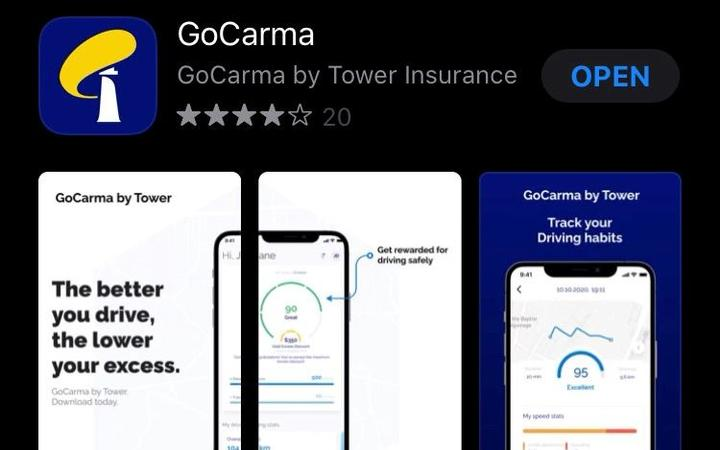 Tower insurance company has launched a new app called GoCarma which monitors people's driving habits.