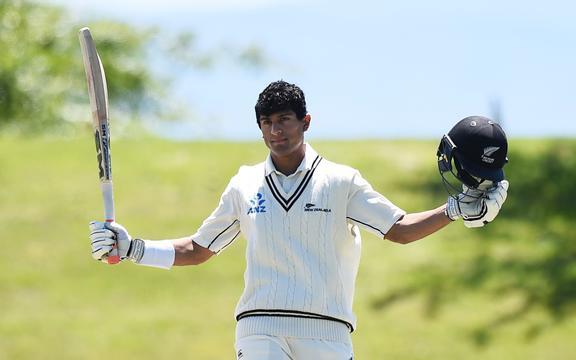 Rachin Ravindra scores a century for NZ A 2020.