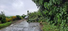 Heavy rain in Samoa causes major flooding and landslides in parts of the country.