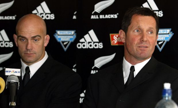 All Blacks coaches John Mitchell and Robbie Deans in 2003.