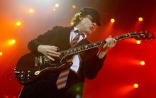 AC/DC lead guitarist Angus Young