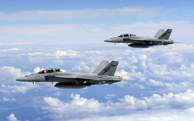 Australia has sent eight Super-Hornet jet fighters to the region.