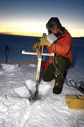 Alex Gough was part of a team that wintered over at Scott Base to gather the first year-round observations of sea ice formation and thickness in McMurdo Sound.