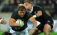 South African Duane Vermeulen during the Rugby Championship Test Match New Zealand All Blacks v South Africa. Wellington. 2014.