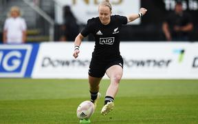 Black ferns Kendra Cocksedge during their rugby match.