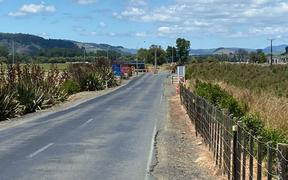 The road up to Waikeria Prison.