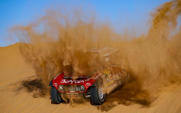 Mini driver Stephane Peterhansel of France on 2020 Dakar Rally.
