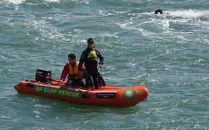 Surf Life Savers searched near Shelly Beach for a second day.