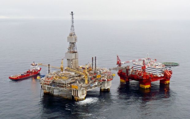 One of Statoil's rigs off the coast of Norway.