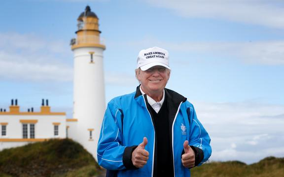 Donald Trump at Turnberry Golf Club, Ayrshire, Scotland.