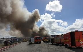 Scrap yard fire in Papakura