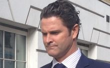 Chris Cairns leaves Westminster Magistrates Court.