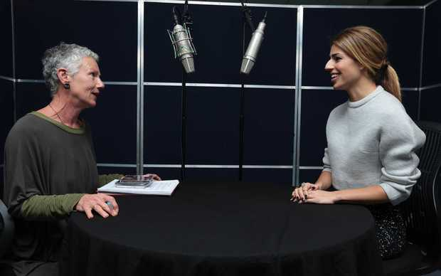 Kim Hill interviewing Brooke Fraser at Radio New Zealand.
