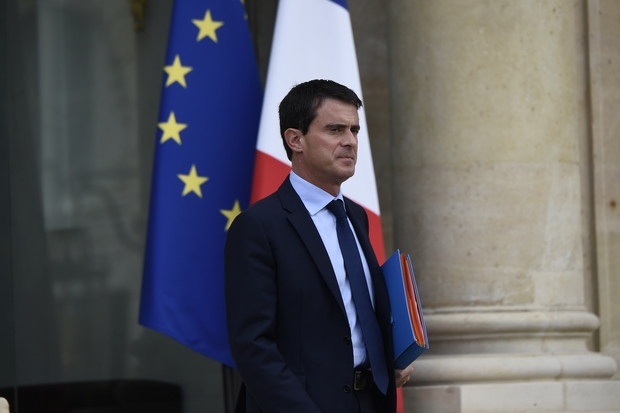 The French prime minister, Manuel Valls,
