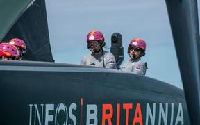 Team UK helmsman Sir Ben Ainslie.