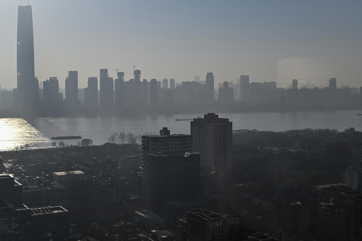 Wuhan city, in China's central Hubei province, 19 January 2021.