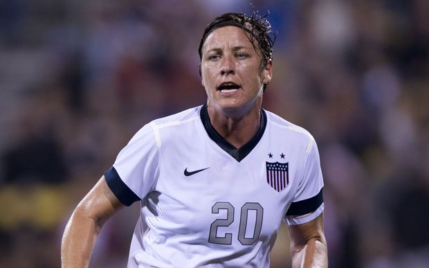 Abby Wambach in action against New Zealand in 2013