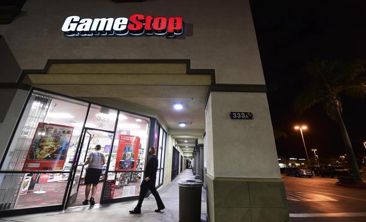 A GameStop store in California