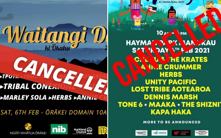 The Waitangi ki Ōkahu and Waitangi ki Manukau festivals have been cancelled due to concerns over Covid-19 community cases.